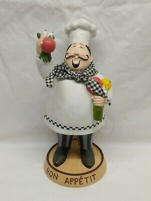 Fat Chef Figurine Kitchen Decor Italian 12 X 4 5 Bistro Statue Restaurant 21 24 Picclick