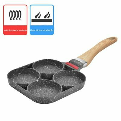 Non Stick Frying Pan For Gas Electric Induction Hob 4 Hole Burger Eggs Ham-UK