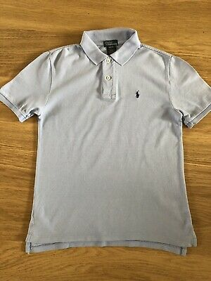 Polo Ralph Lauren Boys Polo Shirt Age 10-12 Pale Blue
