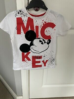 Boys Primark Disney Mickey Mouse T Shirt Size 4-5 Years