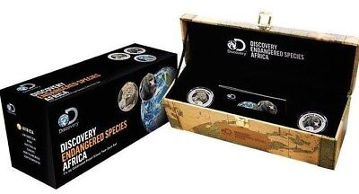 2016 Niue $2 Discovery Channel Africa 2 Coin (3 Oz) Proof Silver Mint Set