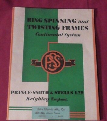 1940:Ring Spinning and Twisting Frames : Continental System : Printed in England