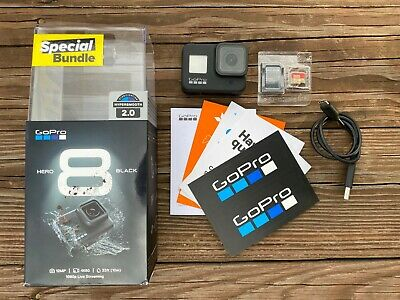 GoPro Hero 8 Black Action Camera with Cracked Screen 32 GB SD Card