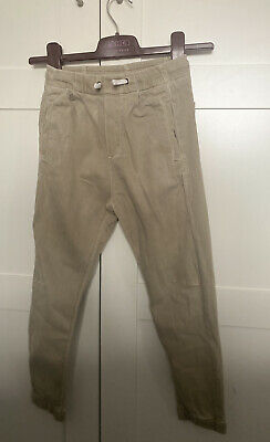 Boys Zara Trousers Jeans Chinos Cream Beige 8 8-9 Years