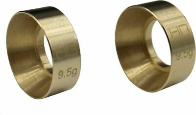 Hot Racing Axial SCX24 Brass KMC Machete Wheel Weights (9g) (HRASXTF2612H)