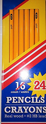 Crayons - Real Wood Pencils # 2 HB Lead - 24 Count