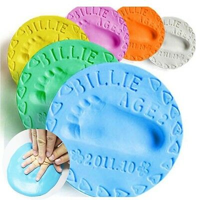 Soft Baby Care Air Drying Clay Baby Handprint Footprint Imprint Kit Casting 20g