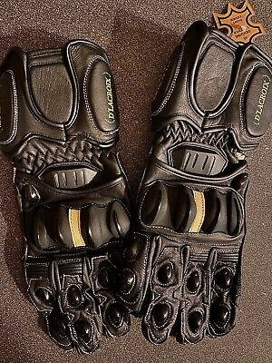 Guantes Moto Delacroix 100% Genuine Perforate Leather NEW L Size Bike Gloves