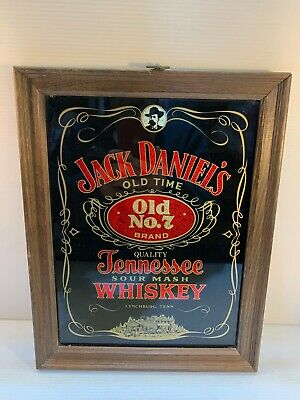 Vintage Jack Daniels Old Time No 7 Brand Tennessee Whiskey In Wood Frame