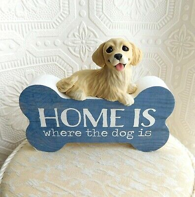 Golden Retriever Home is where the Dog is Decor Furever Clay by Raquel