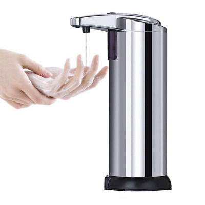 Stainless Steel Auto Infrared Soap Sprayer Touchless Dispenser No-contact