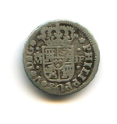 Spain Philippe V 1/2 Real 1735 Jf Madrid