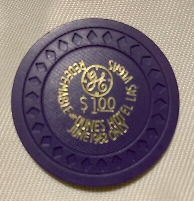 Rare Dunes Hotel And Casino $1 Chip GE June 1962 Only