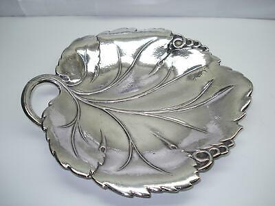 Sterling Silver Fancy Grape Tray hallmarked JE Caldwell Co 320 G Numbered 321
