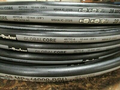 """Parker Hydraulic Hose 487Tc-6 3/8"""" 100' Two Wire Hose Global Core Tough Cover"""