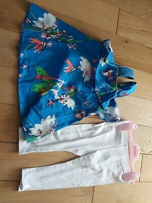 Baby Girls Ted Baker Outfit Top And Leggings 9-12 Months