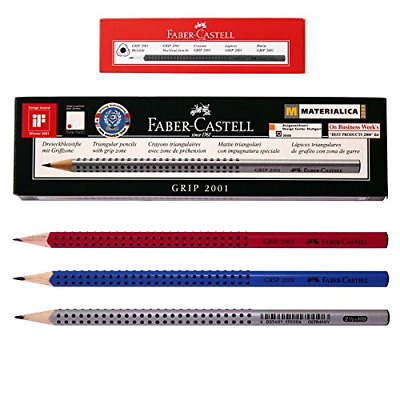 Faber Castell Eco Pencil Grip 2001 Pack of 12 3 Color Body-hb