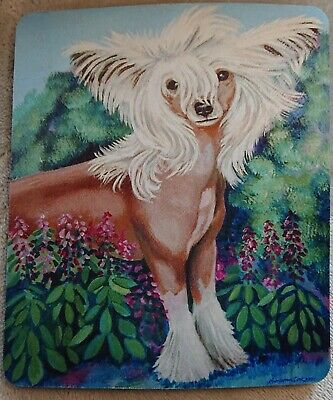 Beautiful Chinese Crested Dog Mouse Mat Unusual Design from USA new