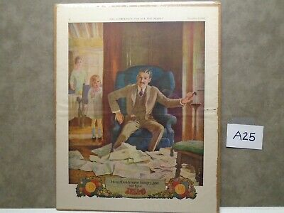 Vintage 1922 JELLO GELATIN DADDY WE ARE HUNGRY Magazine Ad  A25