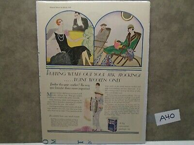 Vintage 1926 LUX SOAP SILK STOCKINGS Magazine Ad  A40