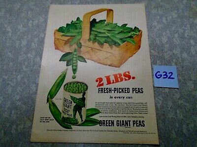 Vintage Pillsbury Green Giant Magazine Ad Suitable for Framing G32 2 POUNDS