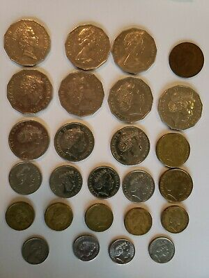 Old Australia Coin Lot of 25- 1942, 1970-2004 (lot 4)