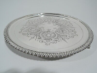 Tiffany Salver - 572 - Antique Early Classical Tray - American Sterling Silver