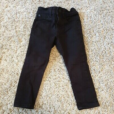 NEXT Boys Black denim Skinny Jeans Age 3 Years adjustable waist
