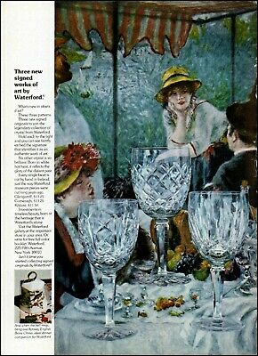 1974 Victorian social setting Waterford glassware vintage art Print Ad ads34