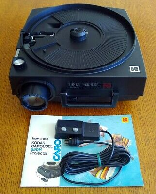REFURBISHED Kodak 650H Carousel Slide Projector with Wired Remote and Manual