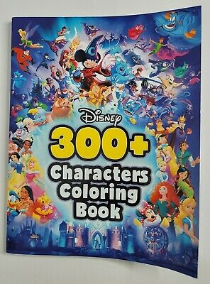 Disney 300+ CHARACTERS Coloring Book NEW Princesses Mickey Mouse Lion King+