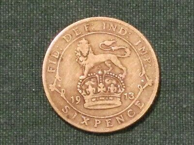 *** 1913  6 pence (Great Britain)  92.5% Silver coin.  KM# 815