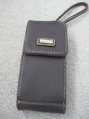 Nine West glasses/phone case carry strap mirror card holder purple faux leather