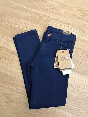 Boys Mayoral Navy Skinny Jeans 7 Years BNWT