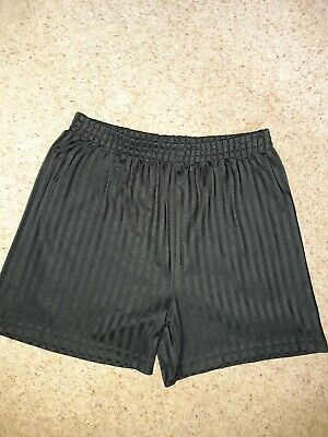 Plain Black PE / sports  Shorts age 12 to 13