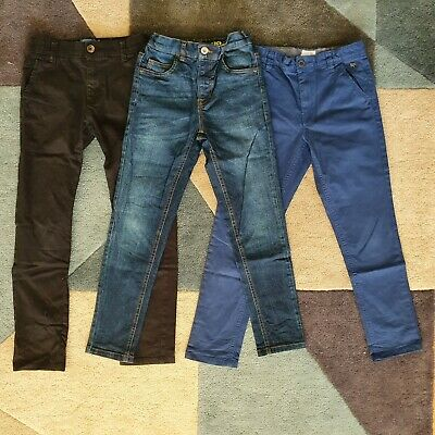 Boys jeans / chino trouser Bundle aged 8/9 Jasper Conran / Blue Zoo. Black