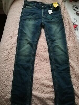 Next Age 12 Years Boys Blue Super Skinny Jeans BNWT