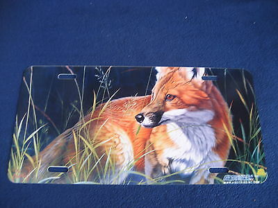 Fox   Picture Plate  Sign   (Pk11)