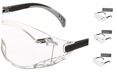 6980 Cover2 Safety Glasses Protective Eye Wear - Over-The-Glass (OTG), Clear Le