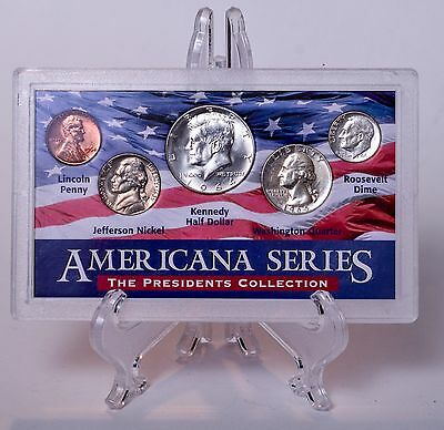 Americana Series The Presidents Collection. Silver Half, Quarter and Dime.