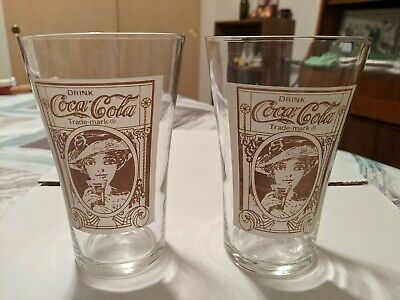 Coca Cola Flare Glasses-Victorian Lady