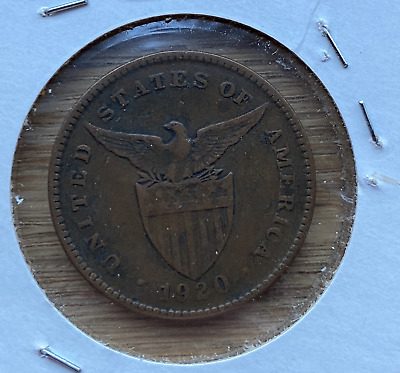US Philippines 1920 S 1 Centavo in nice circulated condition