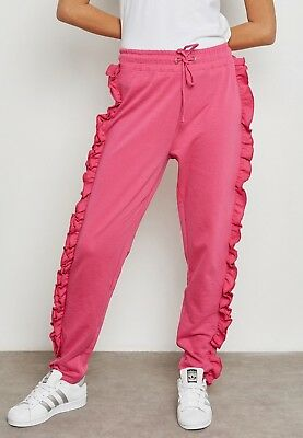 Daisy Street Womens Joggers With Ruffle Sides Size 6 Uk BNWT RRP £24.99 Pink