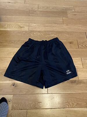 Navy Shorts Sondico Size Child Small School PE football  Unisex Sports Navy Blue