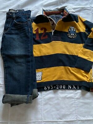 Next Boys Jeans and Rugby shirt  age 4