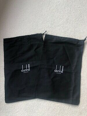 Alfred Dunhill Drawstring Black  Fabric Shoe Dust Bags Pair