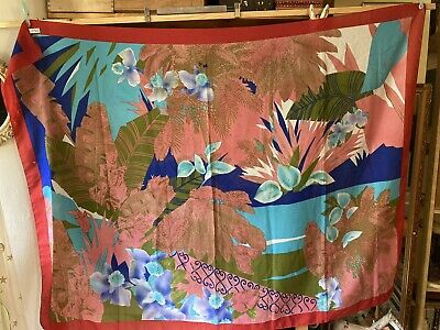 Large Italian Floral Scarf