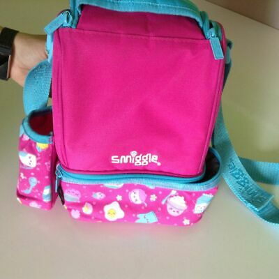 Girls Pink Kids Smiggle Insulated Lunch Bag with Drink Holder