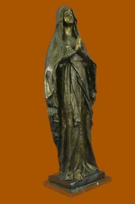 Our Lady Virgin Mary Madonna Praying Folded Hands Heavy Bronze Statue 81 CM deal
