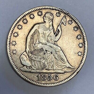 1856-O New Orleans Seated Liberty Silver Half Dollar Extra Fine Details